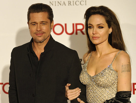 Pictures of Angelina Jolie, Johnny Depp, and Brad Pitt at the Premiere of The Tourist in Spain