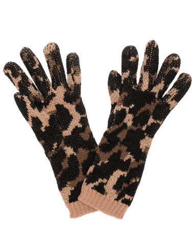 Betsey Johnson Lindsey Leo With Flower Long Gloves  ($34)