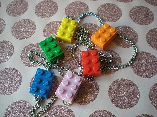 Lego Rainbow Long Necklace ($14)