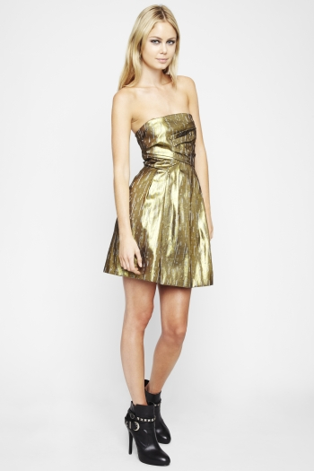 Strapless Metallic Dress ($69, originally $118)