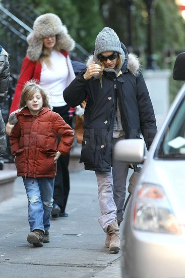 Pictures of Sarah Jessica Parker and James Wilkie at Gray's Papaya