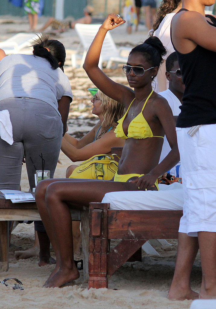 Diddy and Bikini-Clad Kim Go Yachting With Their Twins in St. Barts