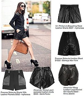 OnSugar Blogger Black by Sara Loves Leather Shorts