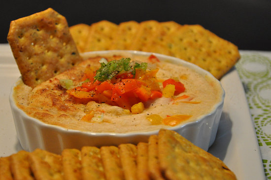 Warm White Bean Dip With Goat Cheese and Roasted Bell Peppers