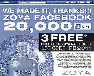 Get Three Bottles of Zoya Nail Polish For Free
