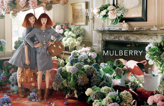 Nimue Smit, Lindsey Wixson for Mulberry, by Tim Walker