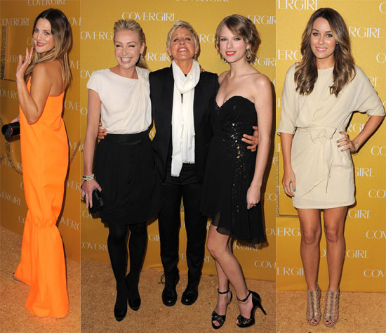 Pictures of Taylor Swift, Lauren Conrad, Drew Barrymore, and Ellen DeGeneres at a Cover Girl Party