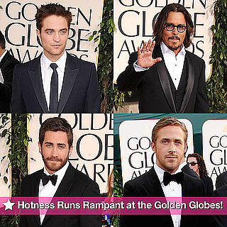 Pictures of Zac Efron, Ryan Gosling, Jake Gyllenhaal and Robert Pattinson at the 2011 Golden Globe Awards 2011-01-16 21:47:27
