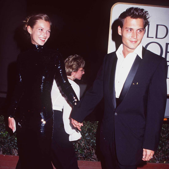 Johnny Depp and Kate Moss attended the 1995 Golden Globes as a couple.