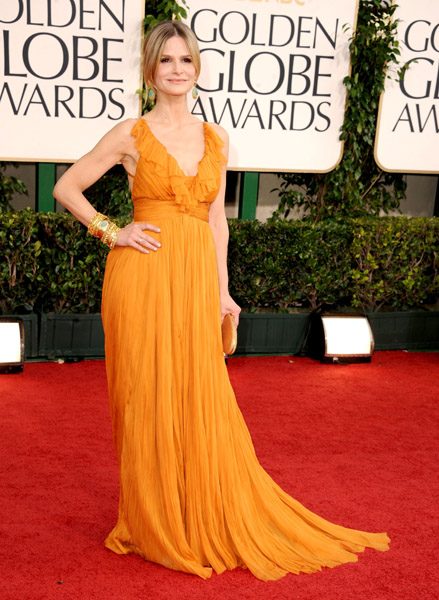 Kyra Sedgwick lent some dazzling color with her Emilio Pucci gown.