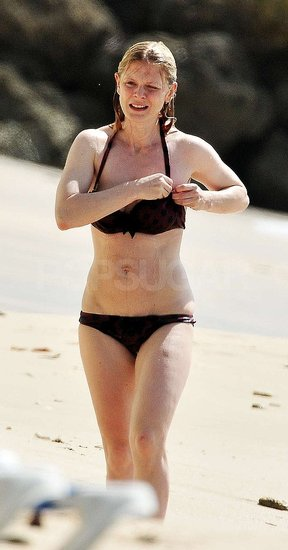 Pictures of Emilia Fox in Bikini Two Months After Giving Birth to Baby Rose