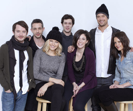 Elijah Wood, Malin Akerman, Adam Brody, Josh Duhamel and Katie Holmes represented The Romantics at Sundance in 2011.