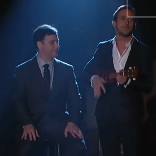 Ryan Gosling Singing and Playing Ukulele on Jimmy Kimmel Live 2011-01-21 09:00:09