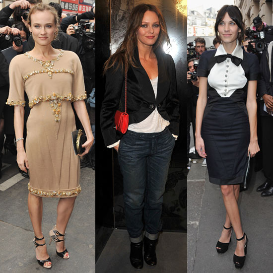 Pictures of Diane Kruger, Vanessa Paradis, Alexa Chung, Kirsten Dunst at Chanel Couture Show in Paris