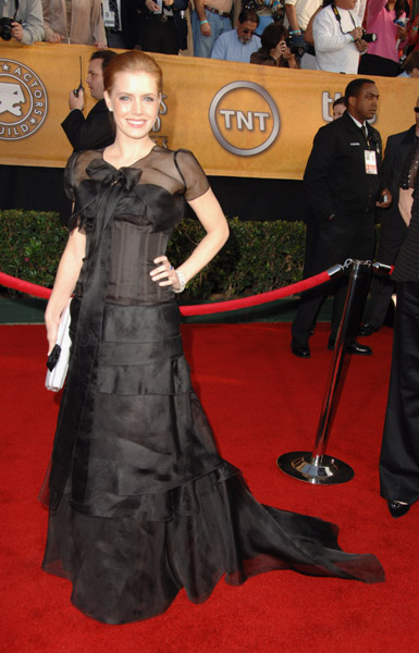 Amy Adams went quirky-chic in 2006, in a bow-tied, sheer black gown.