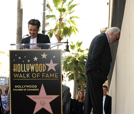 Pictures of Colin Farrell Making A Speech at Donald Sutherland's Hollywood Star on Walk of Fame