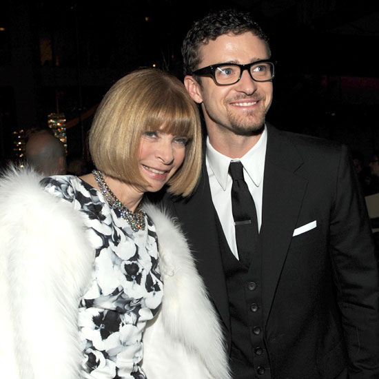 Anna Wintour and Justin Timberlake attended the June 2009 CFDA Fashion Awards in NYC together.