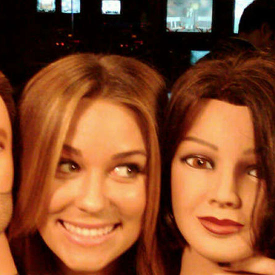 Lauren Conrad got silly and posed with a mannequin.  Source: Twitter user laurenconrad