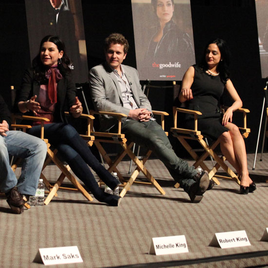 Pictures of Matt Czuchry, Archie Panjabi, Julianna Margulies at a Good Wife Q & A