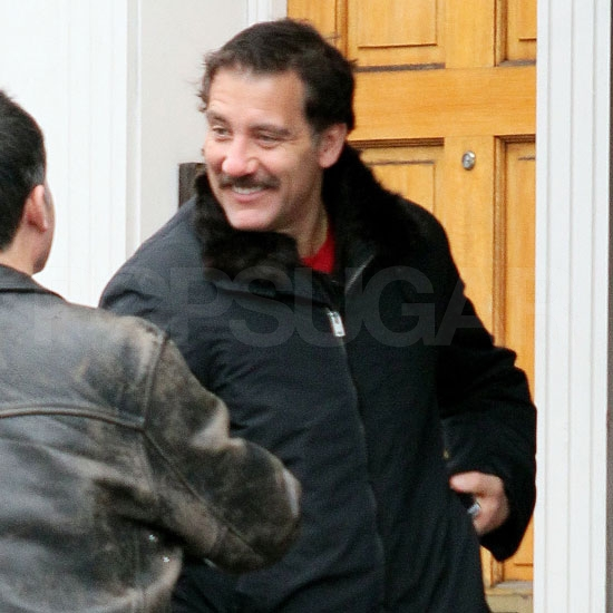 Pictures of Clive Owen With a New Mustache in London