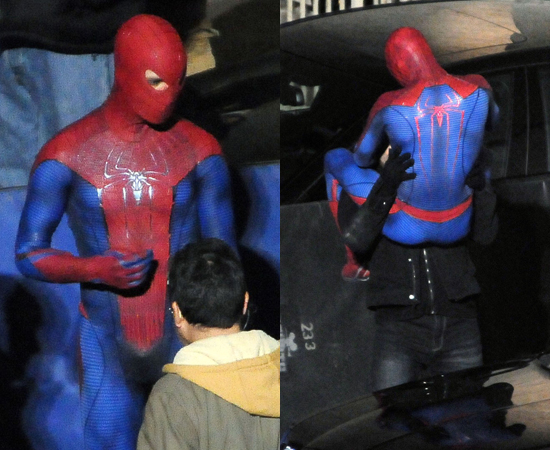 Pictures of Andrew Garfield on the Spider-Man Set