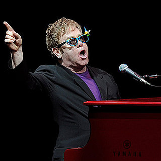 Elton John Reads to His Son