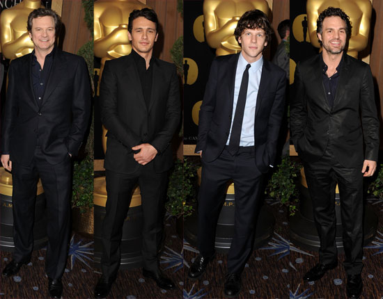 Pictures of the Best Actor Nominees at the Academy Awards Nominees Lunch in Beverly Hills