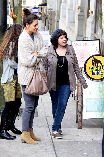 Pictures of Katie Holmes and Isabella Cruise Getting Lunch in LA