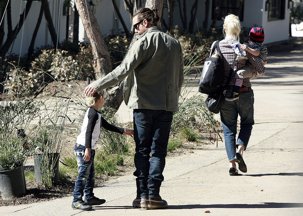 Gwen and Gavin Kick Off Super Bowl Sunday With Their Boys