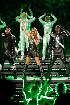 Black Eyed Peas Perform at Super Bowl Half-Time Show