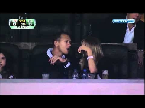 Video of Cameron Diaz Feeding Alex Rodriguez Popcorn During the 2011 Super Bowl