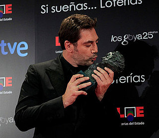 Pictures of Javier Bardem Accepting His 2011 Goya Award For Biutiful