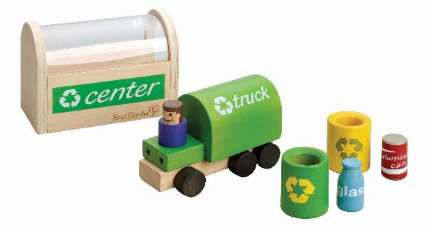 Wooden Recycling Nesting Play Set and Truck