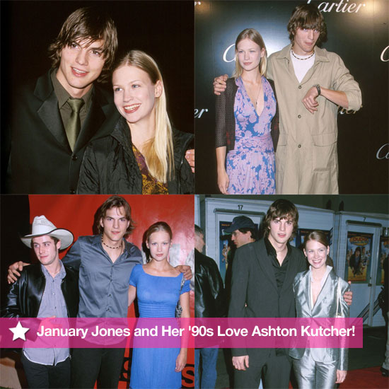 See Pictures of Mad Men's January Jones Dating Ashton Kutcher in the 1990s Real Life Surprising Celebrity Romance
