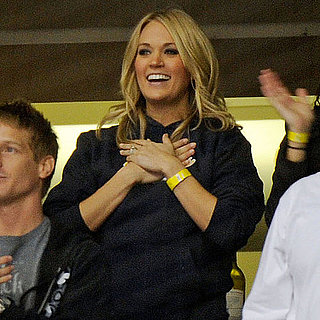 Pictures of Carrie Underwood at Mike Fisher's Hockey Game in Nashville