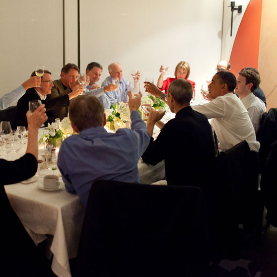 Pictures of President Obama With Mark Zuckerberg and Steve Jobs