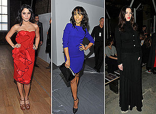 2011 Fall 2011 New York Fashion Week Celebrities In The Front Row Kate Bosworth Zoe Saldana Vanessa Hudgens