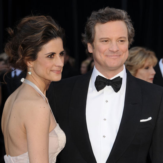 Pictures of Colin Firth and His Wife Livia Giuggioli on the 2011 Oscars Red Carpet 2011-02-27 17:28:37