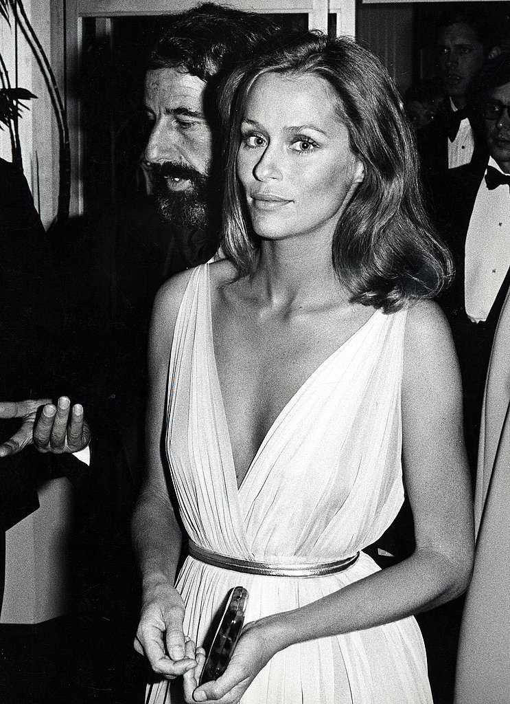 Lauren Hutton at the 1975 Academy Awards