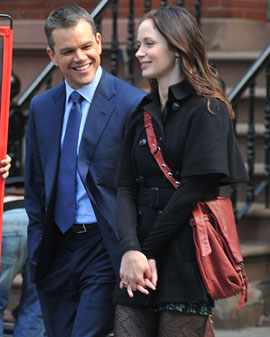 Matt Damon Talks Working Relationship With Ben Affleck at Adjustment Bureau Junket With Emily Blunt 2011-03-04 11:30:00