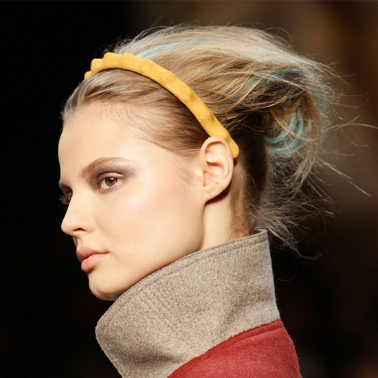 Fendi Models Wear Streaked Hair and Colorful Headbands at 2011 Fall Milan Fashion Week