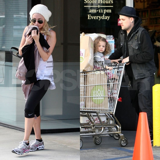 Pictures of Nicole Richie at the Gym as Joel Madden and Harlow Madden Shop For Groceries