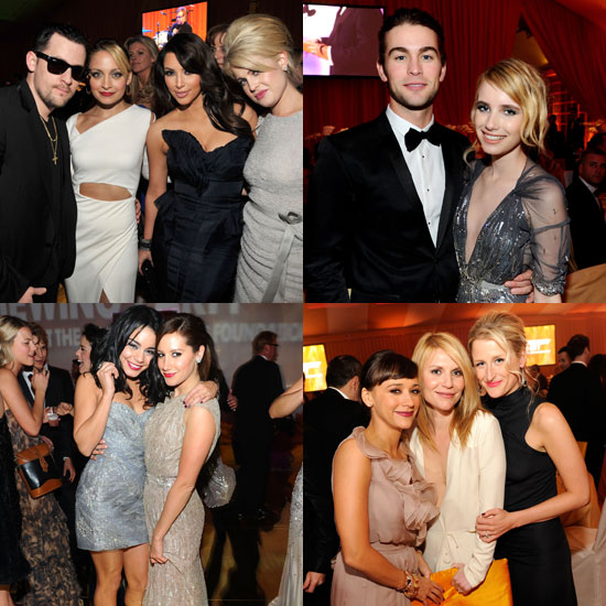 Pictures of Nicole Richie, Joel Madden, Chace Crawford, and More Inside Elton John's 2011 Oscars Party
