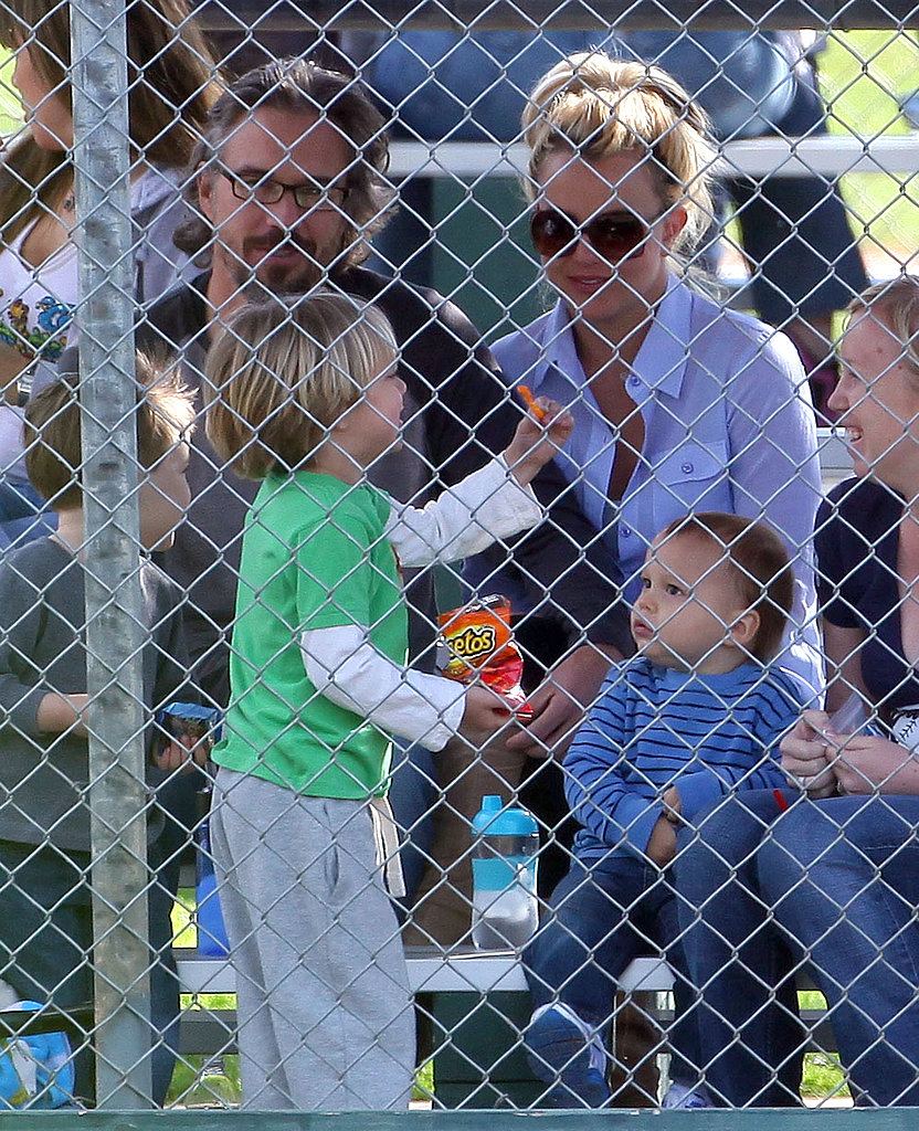 Britney and Kevin Reunite to Watch Sean Preston's Baseball Game
