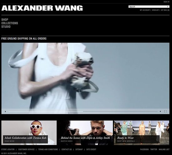 Alexander Wang Relaunches New and Improved Website