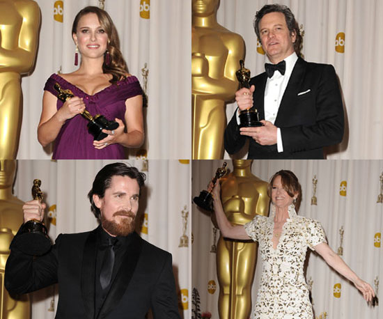 Photos of Oscar Winners Natalie Portman, Colin Firth, Christian Bale, Melissa Leo and More in the 2011 Academy Awards Press Room