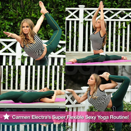 Pictures of Carmen Electra's Flexible Sexy Yoga Routine