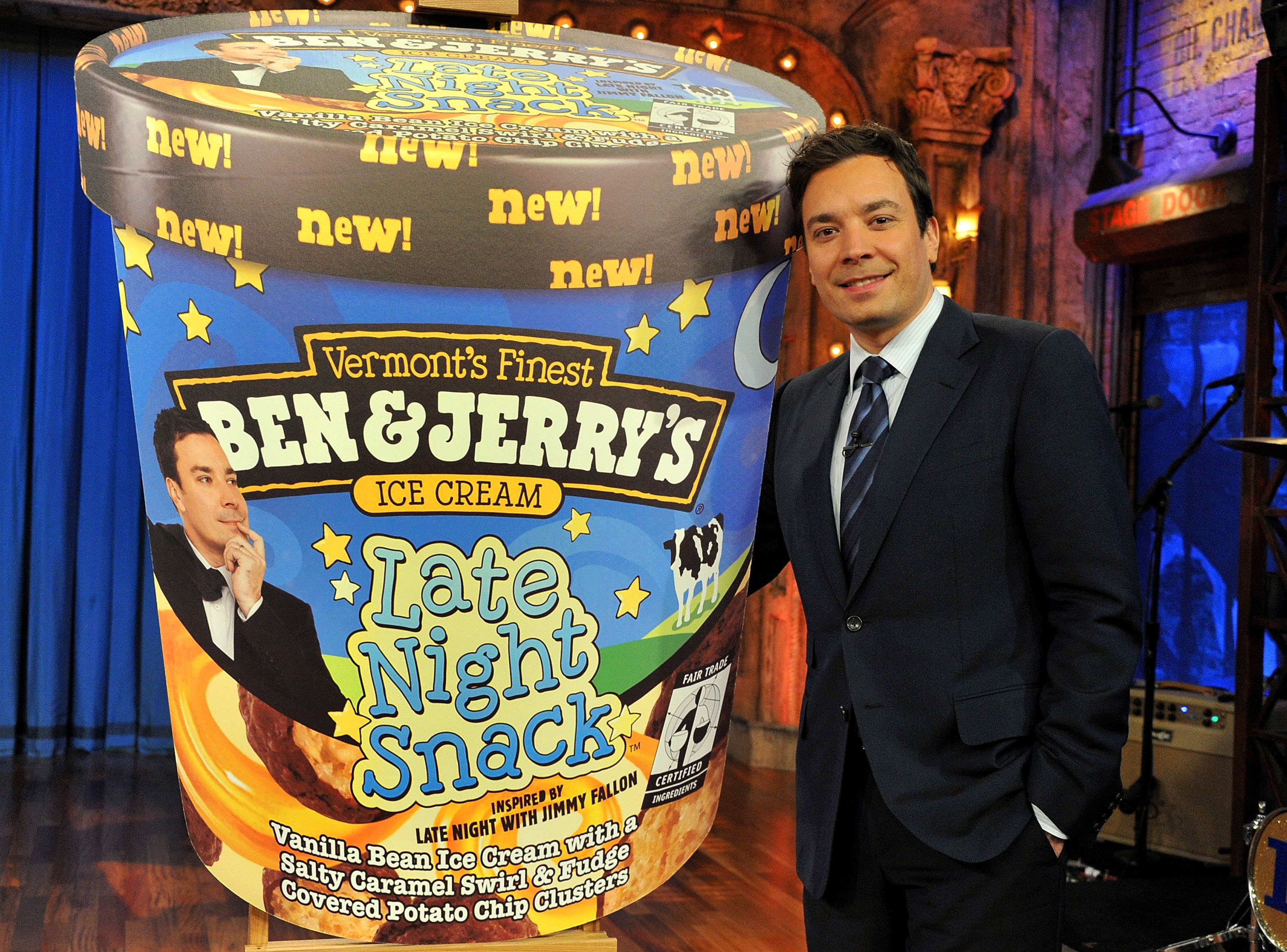 night sorry jimmy fallon ben late night snack ice cream ben jerrys ...