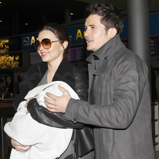 Pictures of Orlando Bloom and Miranda Kerr With Baby Flynn as Miranda Returns to Catwalk at Paris Fashion Week