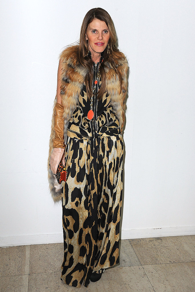 Fur and leopard together; Anna shows her animal instincts.